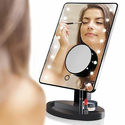 16 LED Light Illuminated Make Up Cosmetic Mirror with 10X Magnification Mirror