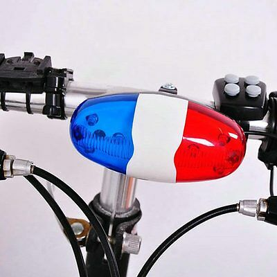 Loud siren Child Bicycle Siren Sounds Electronic Bell Horn 6 LED 4 Tone Light