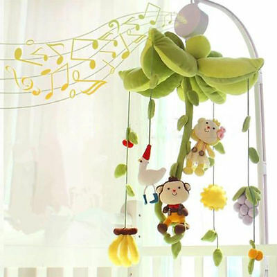 Fashion Music Box Baby Infant Kids Rotary Mobile Crib Clockwork Movement Bed Toy