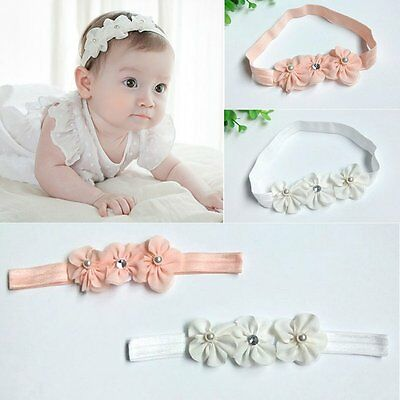 Newborn Toddler Infant Kids Baby Girls Flower Floral Headband Hair Band Headwear
