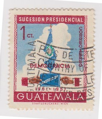 (GMA-105) 1958 Guatemala 1c flag & constitution