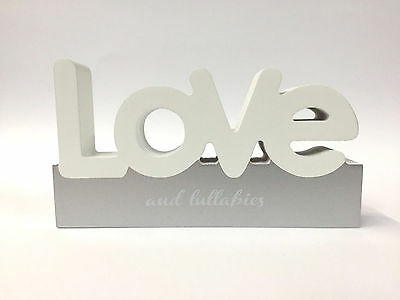 LOVE Splosh wooden freestanding word block