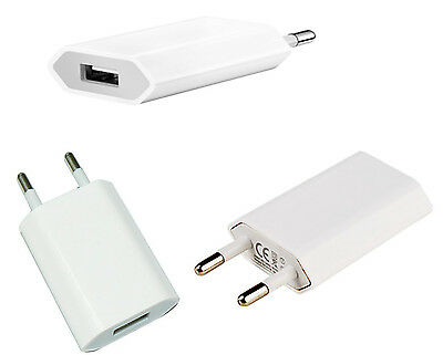 Cargador Corriente  De Pared  Usb Red Universal Blanco 5V 1A