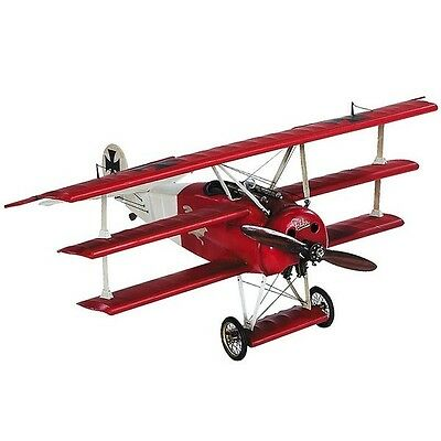 Authentic Models Flugzeugmodell Fokker Triplane Roter Baron