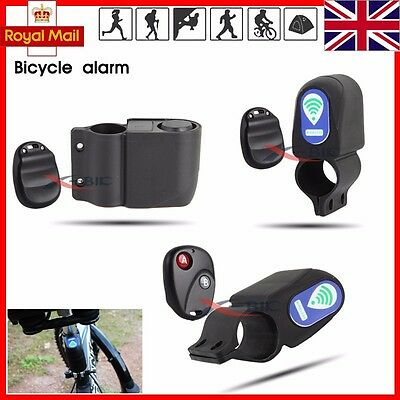 Bicycle Bike Anti Theft Security Alarm Warning Annunciator Lock with Remote UK