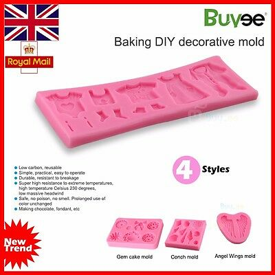3D Baby Silicone Fondant Mould Cake Decorating Chocolate Baking Mold Tool 4 type