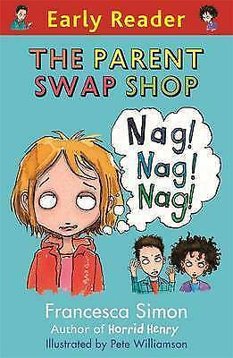 NEW -  RED  EARLY READER - the PARENT SWAP SHOP Francesca Simon Joggers