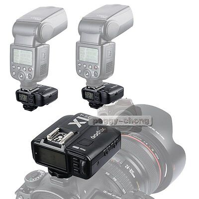 Godox X1C E-TTL Wireless Flash Transmitter +2x Receiver Trigger Set For Canon【US
