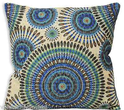 House Additions Cushion Cover PEACOCK GEOMETRIC TEAL 45X45
