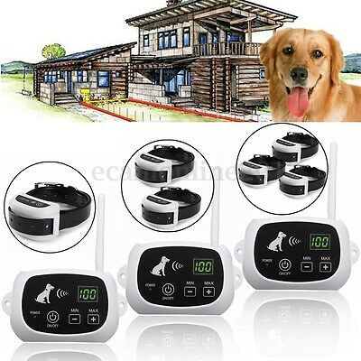 Wireless Pet 1/2/3 Dog Fence No-Wire Training Containment System Rechargeable