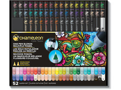 SALE BONUS GIFTS FREE POST 52 CHAMELEON Color Tone Markers Deluxe Pens Full Set