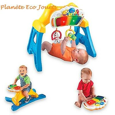 Fisher-Price - 3-in-1 Rockin' Gym - Portique évolutif/bascule et piano-Ref.B479
