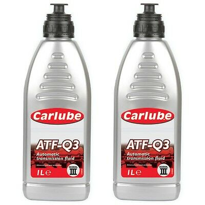 2 x Carlube ATF-Q3 Automatic Dexron 3 Transmission Power Steering Gearbox Fluid
