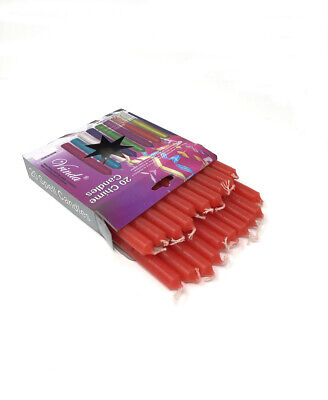 """LOT OF 20 RED COLOR Chime MINI Candles 4""""RITUAL  Plus FREE SHIPPING  W@W"""