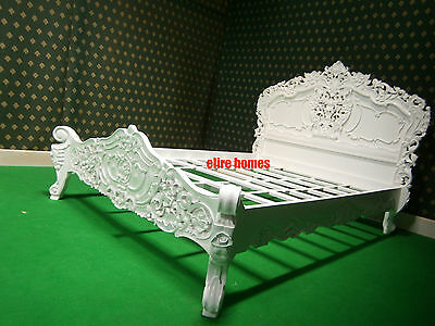 USA Queen size ( 154x204cm ) French style Rococo bed hand carved Mahogany wood