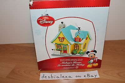Department 56 Disney Village Mickey's House New NIB