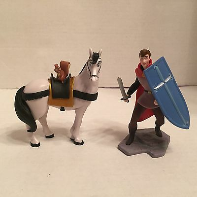 "Disney Sleeping Beauty 4"" Prince Phillip & Samson Horse PVC Action Figure Set"