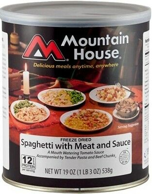 Mountain House #10 Can: Spaghetti with Meat Sauce - Dehydrated Survival food
