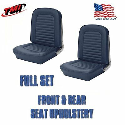 Front and Rear Seat Upholstery Blue Vinyl for 1964-1/2 &1965 Mustang Convertible