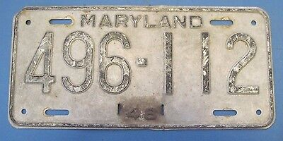 1948 Maryland License Plate