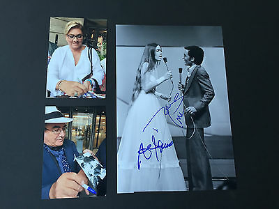 ALBANO & ROMINA POWER   In-Person signed Photo 20x30  Autogramme inkl. Foto