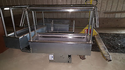 Delfield Drop In Refrigerated Cold Pan Food Buffet Salad Bar w/ Sneeze Guard