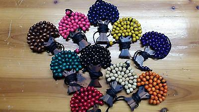 wholesale 10x wooden tree of life beaded necklace pendant 9.5 cm adjustable cord