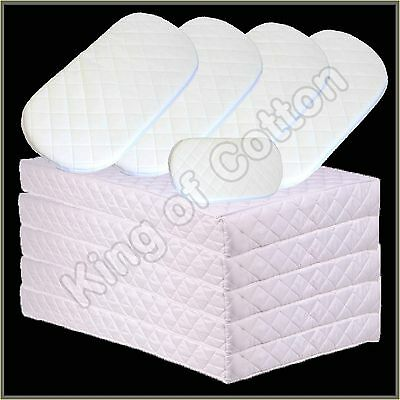 Quilted Baby Cot Crib Moses and Bed Mattress Fully Breathable Thick All Sizes