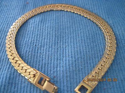 Awesome Gold Flat High Detail Chain Bracelet...#7306