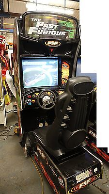 Fast & Furious Twin Sit Down Arcade Machine Coin Op Working