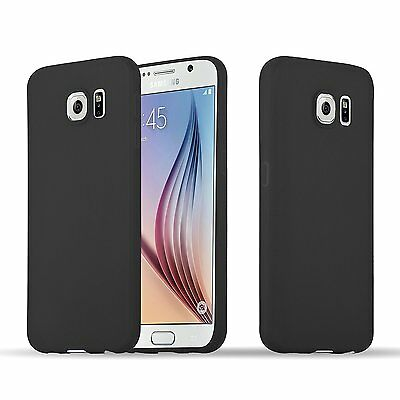 Cover case custodia samsung galaxy s6 TPU ultra slim silicone nera morbida 0,3mm