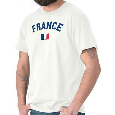 France Flag World Cup Soccer French National Flag Pride T-Shirt Tee