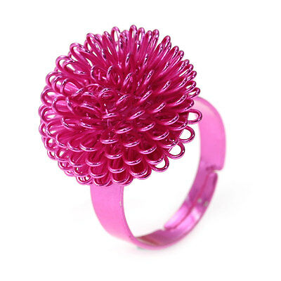 Fuchsia Pink Adjustable Metal Ring - Fun & Funky & Gift Bag, Same Day Postage