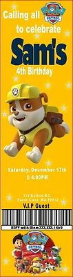 Paw Patrol Printable Invitations - Customized