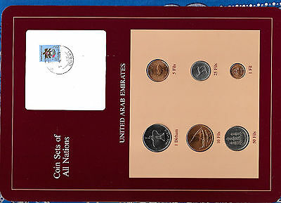 Coin Sets of All Nations UAE United Arab Emirates UNC 1973-1986 1 Fil 1975