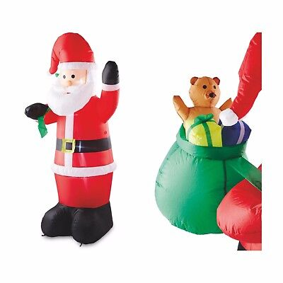 Large Inflatable 180cm Lightup Santa Outdoor Airblown Xmas Christmas Decoration