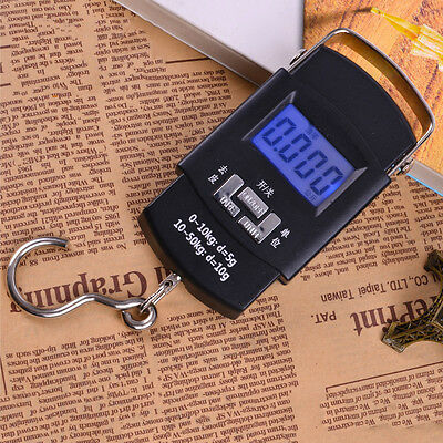 Electronic 110 lbs/ 50kg Digital Fishing Hook Scale Hanging Luggage Portable Hot