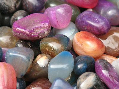 10 Mixed Colour Agate Crystal Polished Tumble Stones x 10 Pieces - Omni New Age