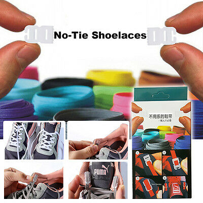 Fashion Elastic No Tie Shoelaces Sports Trainer Athletic Sneaks Shoe laces DIY
