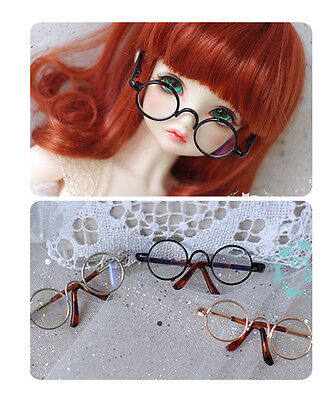 3 Colors Round Metal Glasses For BJD 1/6 1/4 1/3,SD17 Uncle Doll Accessories GS3