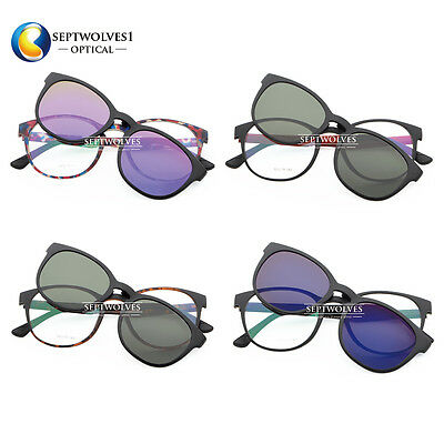 5487b87981b Sport ULTEM Eyeglasses Frames with Magnetic Polarized Clip on Driving Shades