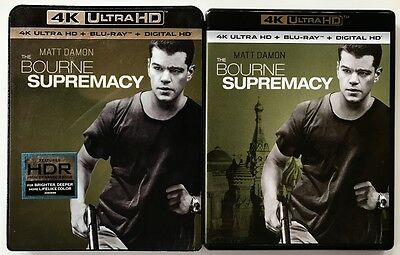 The Bourne Supremacy 4K Ultra Hd Uhd Blu Ray 2 Disc Set + Slipcover Sleeve Buyit