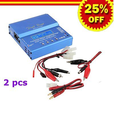 2pcs Blue iMAX B6 AC B 6AC Lipo NiMH 3S RC Battery Balance Charger of RC hobby