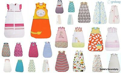 Grobag The Gro Company Assorted Designs Sizes Tog 1.0 100% Cotton 21-23 deg C
