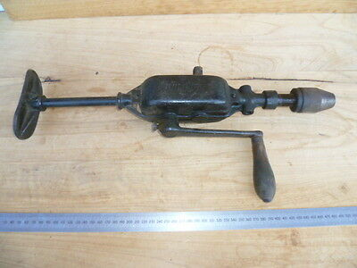 Vintage Old Large Size Brace Drill, Old Woodworking Tool (C346)