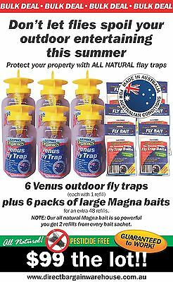 Venus Outdoor Fly Trap 6 Pack With 48 Refills Fantastic Limited Offer