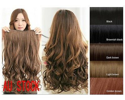3 Colors Wavy Hair Extensions Long Curly Clip on Cosplay hair Synthetic 5 Clips