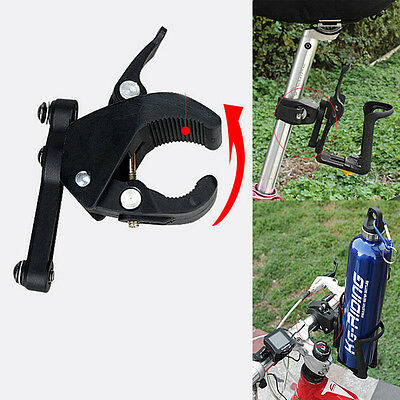 Outdoor Bike Bicycle Cycling Water Cup Bottle Cage Holder Clip on Clamp Mount