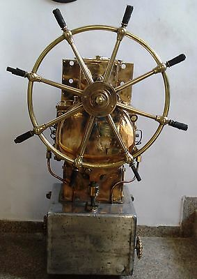 Real ANTIQUE Brown Bros. & Co Ltd STEERING with BASE - Brass -Heavy Weight -RARE