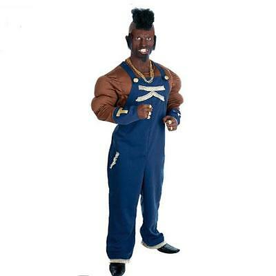 B A Baracas 80's Mr T -  A Team Fancy Dress Costume & Mohican Wig Large